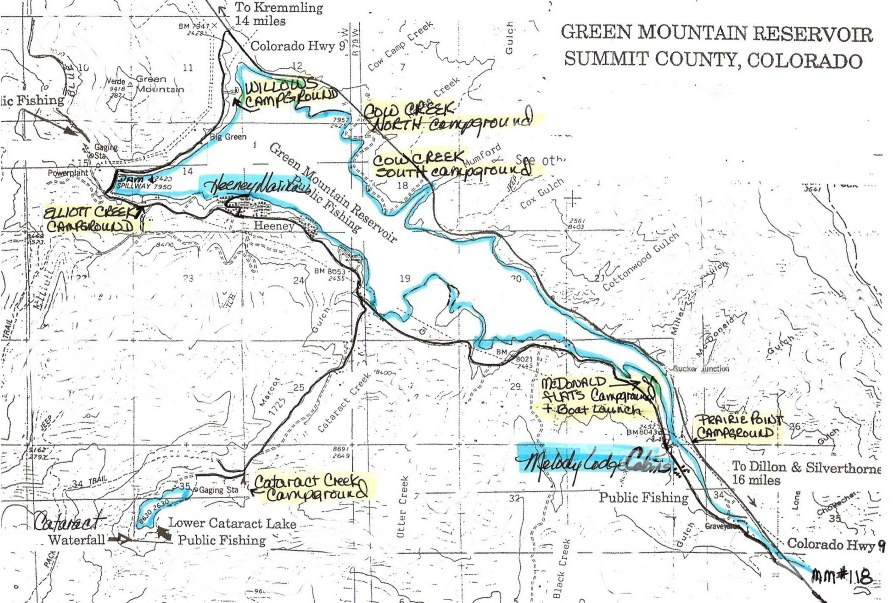 Map for Green valley lake fishing