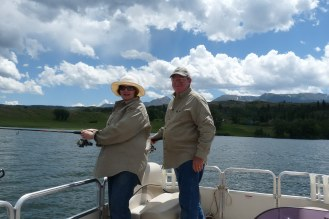A beautiful day for this couple on their guided fishing trip with Dale.